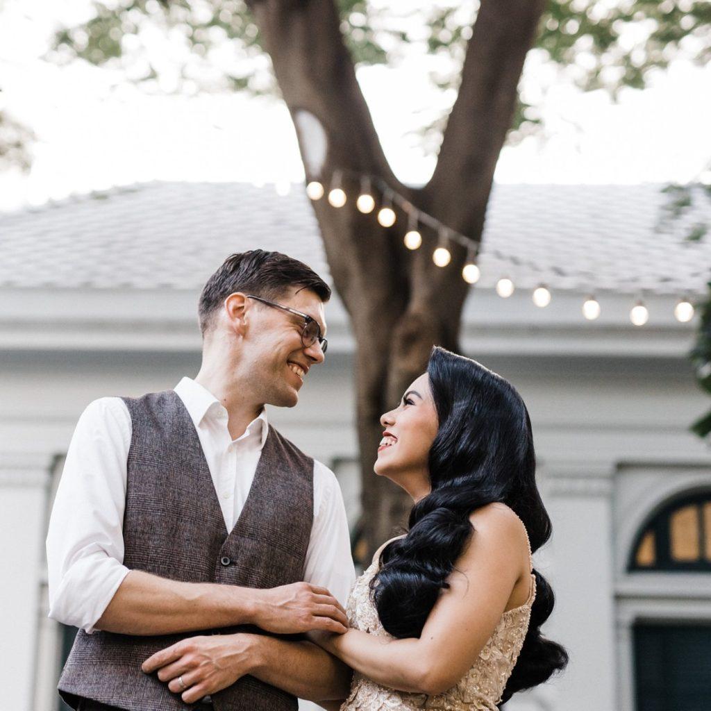 Christian Wannida wedding neilson hays library
