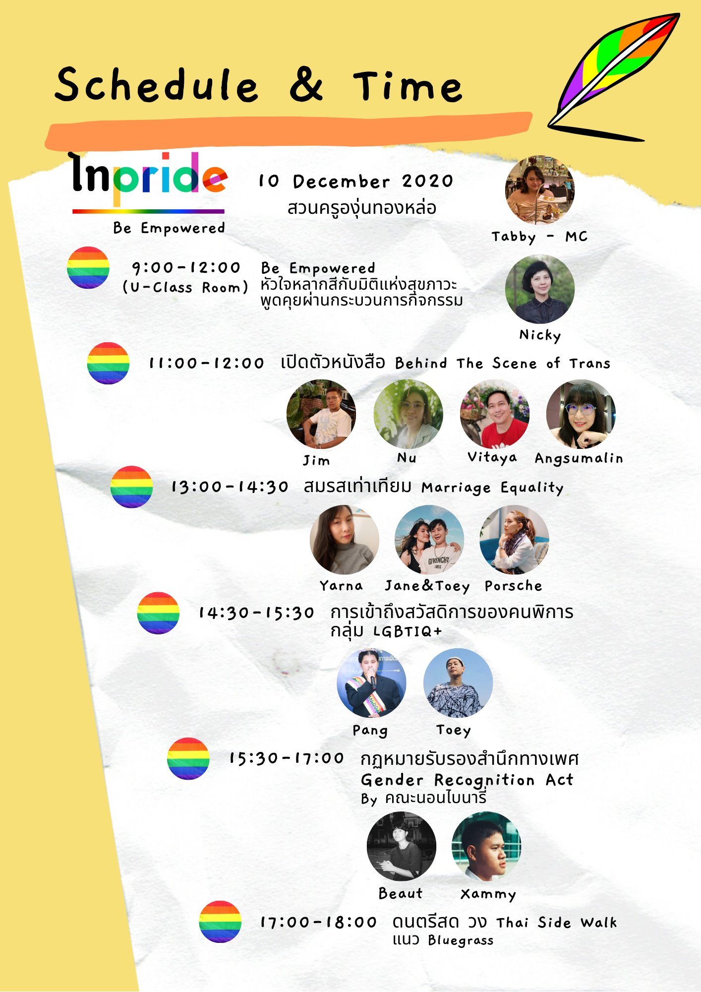 tai pride 2020 bangkok สมรสเท่าเทียม equal marriage law thailand wonders & weddings saga nonbinary